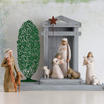 Willow Tree hand-painted Nativity Scene figures on sale for $51.66 (Reg.$75.50)