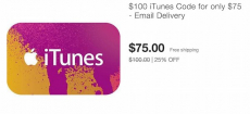 HOT! $100 iTunes Gift Card Only $75 On Ebay! – Email Delivery