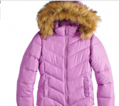 Girl's Faux Fur Heavyweight Puffer Jacket on sale for $15.99 (Reg.$80)