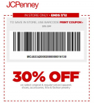 JCPenney Coupon: Save 30% Off Entire Purchase!