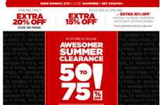JCPenney: 50-75% off Clearance + Extra 15% Off!