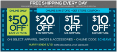 New JCPenney Coupons on Apparel, Shoes, and Accessories! Save up to $50!