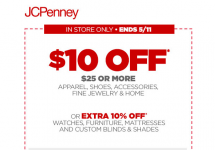 JCPenney $10 Off Of $25 Coupon (Includes Clearance!)