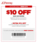 JCPenney: $10 Off a $25 Purchase Coupon!