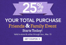 Jo-Ann Fabric & Crafts Store-25% off Entire Purchase-Including Sale Items!