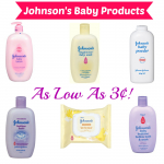 HOT! Johnson's Baby Products as Low as 3¢ at Target!