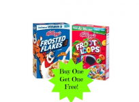 Kellogg's Cereal Buy One Get One Free at Walmart!