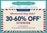 MAURICES MEMORIAL DAY SALE!