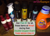 HOT Kmart Double Coupon Deal- $1.05 Moneymaker on Tide, Pantene, and More!