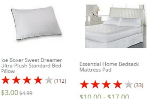 Kmart Bed Pillows From 3 Mattress Pads From 10 Free Store Pick Up Mojosavings Com