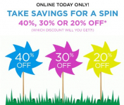 Kohl's Mystery Savings Up to 40% off- TODAY ONLY!