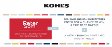 Free $5 at Kohls + Enter to Win Trip To St. Barth or Win 1 of 4 $500 Gift Cards