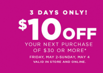 HOT! Kohl's: $10 off of $30