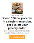 UNBELIEVABLY HOT!!! $25 off of $50 on Groceries at Kroger and Affiliates!!!