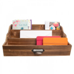Wooden 3 Slot Letter Holder ? Home, Office, Desk Organization For $14 (REG$38)