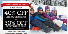 Lands End:  40% All Outerwear + 30% off Your Everything Else!