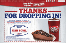 Long John Silvers Coupon: Free Dr. Pepper or Slice of Pie