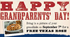 FREE Texas Rose at Longhorn Steakhouse on 9/7!