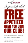 FREE Appetizer from Longhorn Steakhouse!