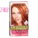 2 FREE L'Oreal Excellence Hair Colors at Target!