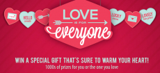 Love is for Everyone Instant Win Game- Win Gift Cards for Olive Garden, Aeropostale, and More!