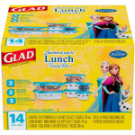14-Piece Disneys Frozen Glad Lunch Containers Only $3.98 + FREE Pickup!