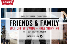 Levi's Friends and Family Event- 30% Off Sitewide + FREE Shipping!