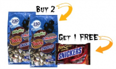 HIGH VALUE Buy 2 Mars Chocolate Variety Bags, Get 1 FREE Snickers Fun Size Coupon!- Great for Halloween!