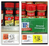 McCormick Spices from $0.49 at Walmart!