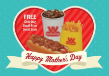 FREE Meal for Moms at Wienerschnitzel!