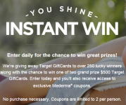 Over 260 Target Gift Card Winners — up to $500 ea!