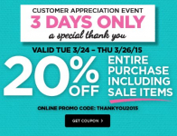 Michaels: 20% off Entire Purchase Including Sale Items!!–3 Days Only!