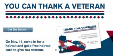 Free Haircut For Military Members on Veterans Day!