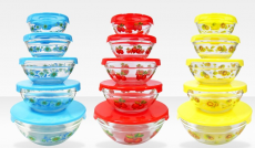 Set of 5 Glass Mixing Bowls with Lids Only $8.99 (Reg. $20!)