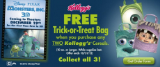 FREE Monster's, Inc. Trick Or Treat Bag!
