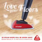 Ends Tomorrow! Enter to Win a Free O-Cedar Microfiber Steam Mop!