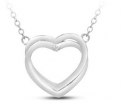 Double Heart Diamond Necklace only $12.97 (reg $99.99) Shipped, TODAY ONLY!