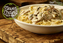 Olive Garden: Unlimited Pasta, Soup, Salad, and Breadsticks Only $10.99 – Limited Time