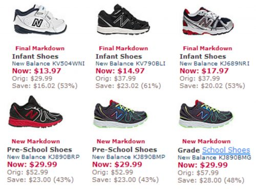 New Balance Kids Shoes As Low As $13.97