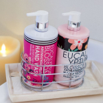 2pc Olivia Grace Eucalyptus Blossom Soap & Lotion Set w/ Caddy – $8.00(REG$14)