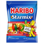 Haribo Starmix Gummi Candy 4oz Bag ? Variety Of Fun Shapes! For $2 Only (REG$5)