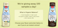 3,100 Free Bottles of Organic Valley Milk
