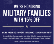 Outback Steakhouse: – Military Families Get 15% Off Through 7/4!