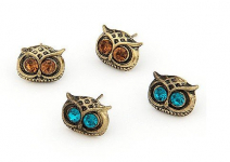 Vintage Owl Head Charm Stud Earrings Only $0.59 Shipped!