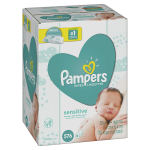 9 refill pack of Pampers Sensitive Baby Diaper Wipes on sale for 12.40!