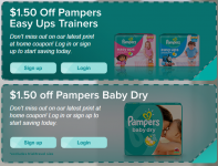 New $1.50 off Pampers Diapers Coupons!