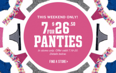 Victoria's Secret: 7 Cotton Panties for Only $26.50! (Starts 7/19)