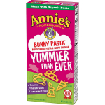 12 boxes of Annie's Bunny-shaped pasta 75¢ a box shipped!