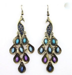 Peacock Earrings with Color Crystal Only $0.83 Shipped!