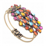Beautiful Vintage Peacock Bracelet Only $3.30 Shipped!